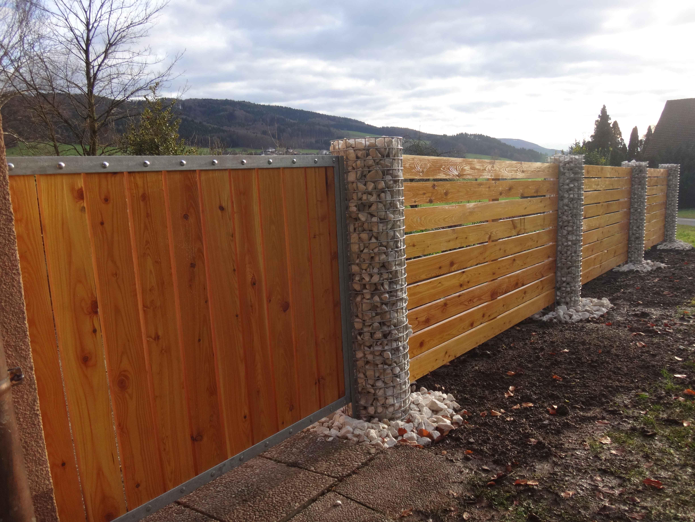 Zaun Holz Und Stein ~ Verschiedenes interessantes Design ...