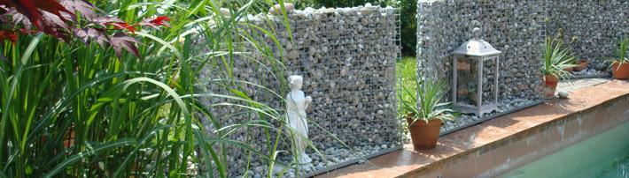 Gabionen und steink rbe von haberl for Gartengestaltung um den pool